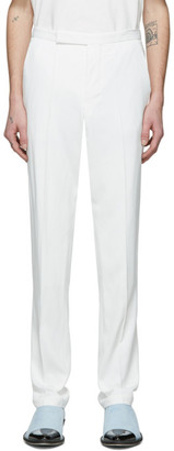 Haider Ackermann White Narrow Waistband Trousers