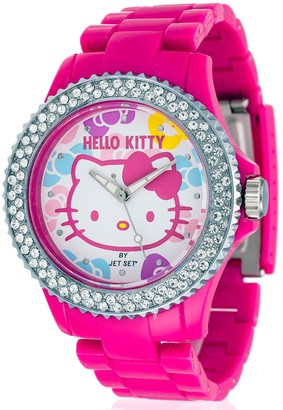 Hello Kitty Girl's Watch Uto Red Dial Analogue Display and Pink Plastic Strap 990422