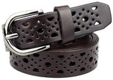 Sitong women's fashion hollow pin buckle leather belts