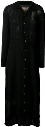 Comme Des Garçons Pre Owned 1993's Sheer Shirt Dress