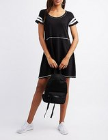 Charlotte Russe Varsity Stripe Sccop Neck Dress