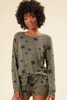 PJ Salvage Olive Star Sweatshirt Olive XS