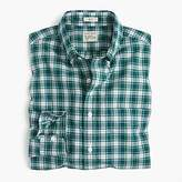 Secret Wash Shirt In Green And White Plaid