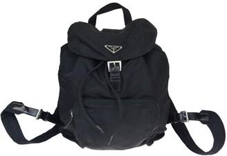 Prada Black Leather Backpacks