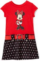 Jerry Leigh Minnie Mouse Polka Dot Belt Dress - Toddler & Girls