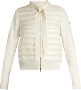 Moncler Quilted down and cotton-knit jacket