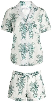 Desmond & Dempsey Cotton Pineapple Print Pyjama Set