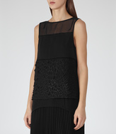 Reiss Valentina TEXTURED EVENING TOP