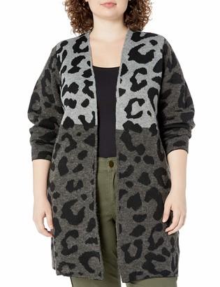 Amy Byer Women's Plus Size Long Sleeve Cardigan Duster