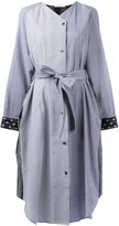 J.W.Anderson mixed print shirt dress - women - Cotton/Linen/Flax - 8