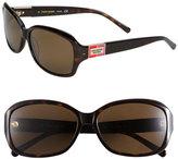 Kate Spade Women's 'Annika' 56Mm Polarized Rectangular Sunglasses - Brown
