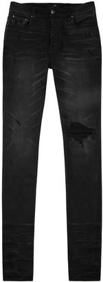 Amiri Broken black distressed slim-leg jeans