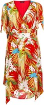 Evans **Scarlett & Jo Red Floral Dress