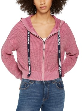 Tommy Jeans Cotton Cropped Hoodie