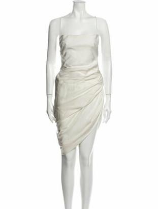 Jacquemus Square Neckline Mini Dress White