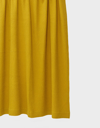 Hawkins New York Simple Waffle Shower Curtain in Mustard