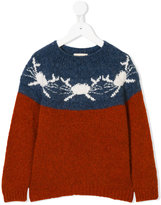 Bobo Choses crab pattern jumper
