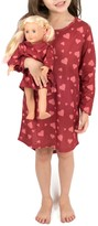 Leveret Hearts Nightgown & Matching Doll Nightgown (Toddler, Little Girls, & Big Girls)