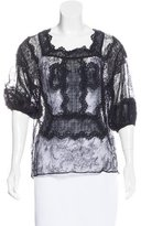 Givenchy Lace Long Sleeve Blouse