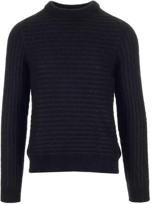 Saint Laurent Striped Crewneck Knitted Jumper