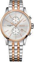 BOSS Men's Chronograph Jet Two-Tone Stainless Steel Bracelet Watch 41mm 1513385