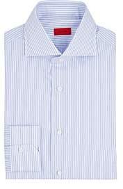 Isaia Men's Striped Cotton Poplin Shirt - Lt. Blue