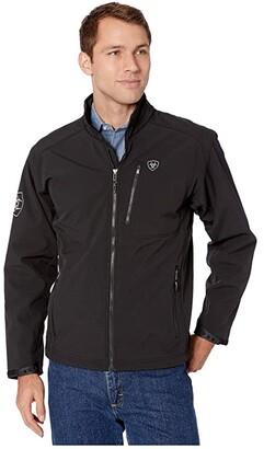 Ariat Logo 2.0 Softshell Jacket (Black) Men's Clothing
