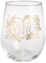 Easy, Tiger Tattoo Print Wine Glass