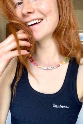 BLACKCURRANT POP Happy Rainbow Necklace - Assorted ALL at Urban Outfitters