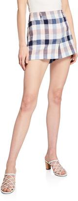 Veronica Beard Ilene Check Shorts