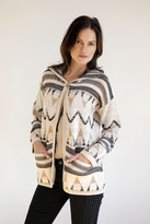 Goddis Navita Jacquard Hooded Knit Jacket In Canvas Ink