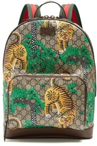 Gucci Bengal Gg Supreme Canvas And Leather Backpack