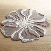 Pier 1 Imports Flower-Shaped 3' Round Gray Bath Rug
