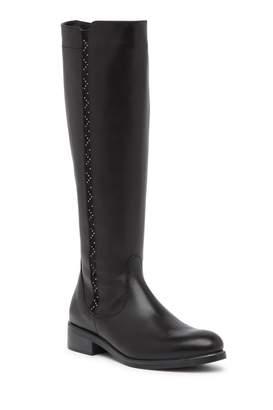 Italian Shoemakers Titta Leather Studded Knee-High Boot