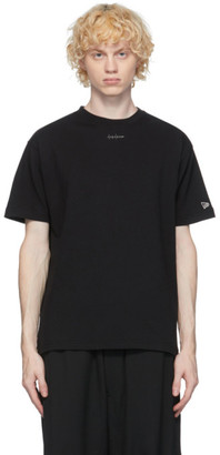 Yohji Yamamoto Black New Era Edition Embroidered Logo T-Shirt