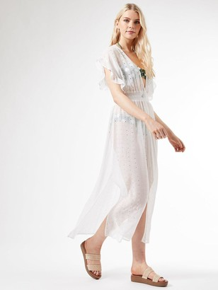 Dorothy Perkins Cutwork Maxi Cover Up - Ivory