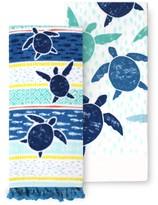 Celebrate Summer Together Turtles Kitchen Towel 2-pk.