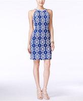 Nine West Floral-Lace Halter Sheath Dress