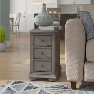 Beachcrest Home Dania Beach End Table with StorageA Color: Gray