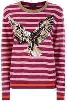 SET Striped Eagle Printed Sweater