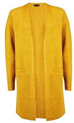 Dorothy Perkins Womens Yellow Edge To Edge Cardigan, Yellow