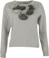 Blugirl Flower Fringed Detail Sweater
