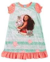 Disney Little Girl's and Girl's Moana Nightgown