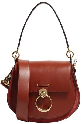 Chloé Large Leather Tess Saddle Bag