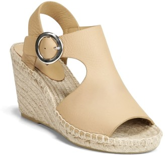 Via Spiga Nolan Leather Espadrille Wedge Sandal