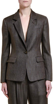 Giorgio Armani Wool-Silk One-Button Jacket