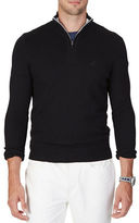 Nautica Quarter-Zip Cotton Blend Sweater