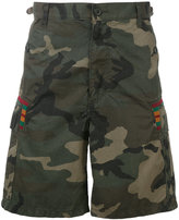 Facetasm camouflage print shorts - men - Cotton/Nylon - 3