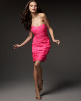 Shoshanna Strapless Ruched Dress