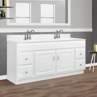 """Winston Porter Searle 2-Door 4-Drawer 61"""" Double Bathroom Vanity"""